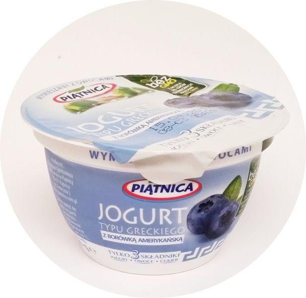 Piątnica, Jogurt typu greckiego z borówką amerykańską, copyright Olga Kublik