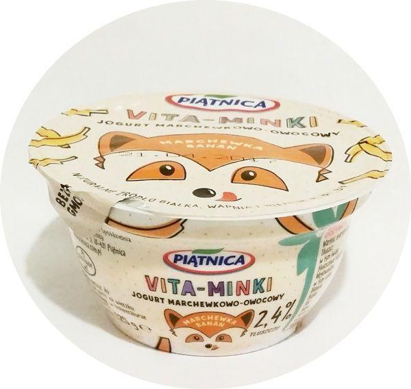Piątnica, Vita-Minki: marchewka banan, jogurt dla dzieci, copyright Olga Kublik