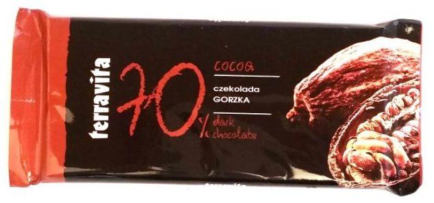Terravita, 70% cocoa czekolada gorzka, copyright Olga Kublik