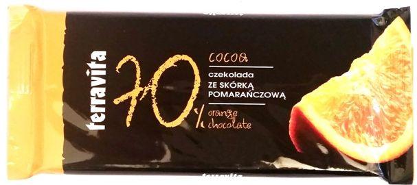 Terravita, 70% cocoa czekolada gorzka skórką pomarańczową, copyright Olga Kublik