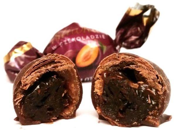 Czekolateria, Śliwka w czekoladzie z nadzieniem czekoladowym, Lidl, copyright Olga Kublik
