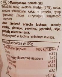 Favorina, Marzipan Potatoes, marcepanowe kartofelki z Lidla, skład i wartości odżywcze, copyright Olga Kublik