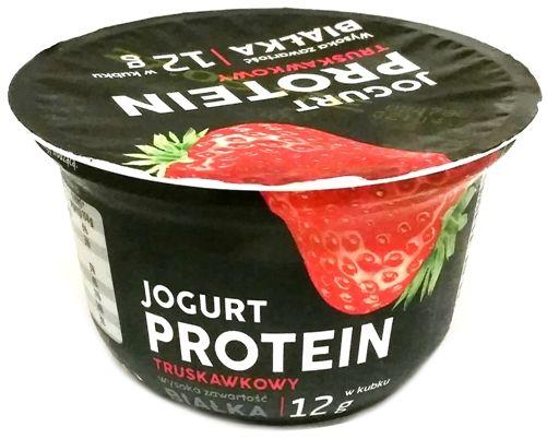 Lactalis Polska, Jogurt PROTEIN proteinowy truskawkowy, copyright Olga Kublik