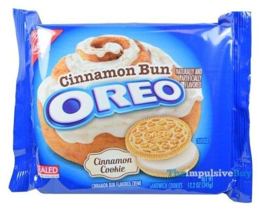Mondelez, Cinnamon Bun Oreo, amerykańskie ciastka o smaku cynamonu z mlecznym kremem