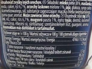 Muller, Riso ryż na mleku z sosem o smaku orzechów laskowych, skład i wartości odżywcze, copyright Olga Kublik