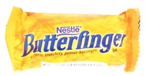 Nestle, Butterfinger, baton o smaku masła orzechowego w mlecznej czekoladzie, copyright Olga Kublik