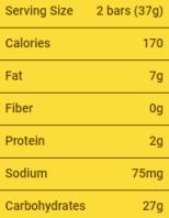 Nestle, Butterfinger, baton o smaku masła orzechowego w mlecznej czekoladzie, skład i wartości odżywcze