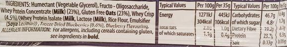 Oh My Goodness, Blueberry Twist, baton proteinowy zbożowy z jagodami, skład i wartości odżywcze, copyright Olga Kublik