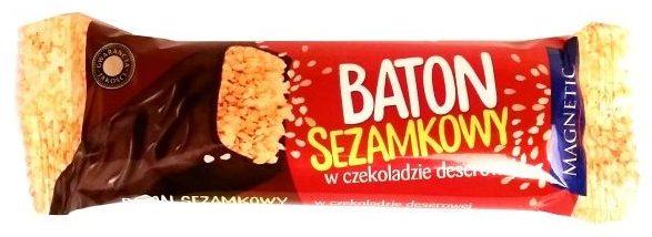 Unitop-Optima, Magnetic Sezamkowy ciemny, baton z sezamem w czekoladzie deserowej, copyright Olga Kublik
