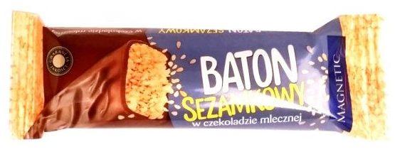 Unitop-Optima, Magnetic Sezamkowy mleczny, baton z sezamem w mlecznej czekoladzie, copyright Olga Kublik
