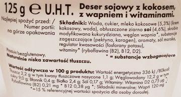 Alpro, Classic Coconut, deser sojowy bez glutenu o smaku kokosa, skład i wartości odżywcze, copyright Olga Kublik