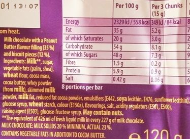 Cadbury, Dairy Milk Oreo Peanut Butter, mleczna czekolada z nadzieniem o smaku masła orzechowego i kakaowymi herbatnikami, skład i wartości odżywcze, copyright Olga Kublik