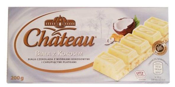 Chateau, Biała czekolada z kokosem i corn flakes, Aldi, copyright Olga Kublik