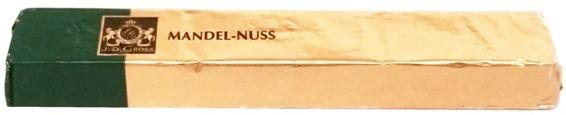 J. D. Gross, Mała Pokusa Mandel-Nuss czekoladka z kawałkami migdałów 3,8 procent i orzechów 3,8 procent, copyright Olga Kublik