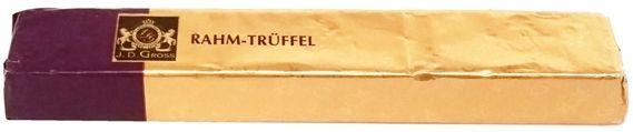 J. D. Gross, Mała Pokusa Rahm-Truffel czekoladka deserowa z nadzieniem truflowo-śmietankowym, copyright Olga Kublik