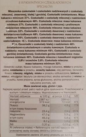 J. D. Gross, Mała Pokusa, bombonierka - czekoladki z nadzieniem z Lidla, opis, skład i wartości odżywcze, copyright Olga Kublik