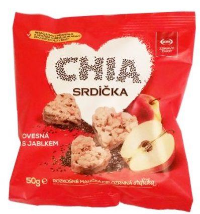 Semix Zdravy Zivot, Chia Srdicka Ovesna s jablkem, zdrowe wegańskie owsiane ciasteczka z jabłkiem i chia, copyright Olga Kublik