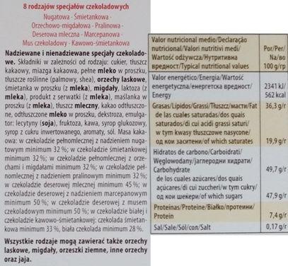 Storck, Merci czerwone, skład i wartości odżywcze, copyright Olga Kublik