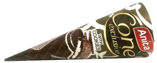 Anita, Cone exclusive with cookies, rożek lodowy o smaku cookies & cream, lody śmietankowe z ciasteczkami kakaowymi typu Oreo, copyright Olga Kublik