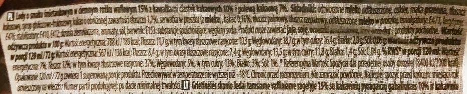 Anita, Cone exclusive with cookies, rożek lodowy o smaku cookies & cream, lody śmietankowe z ciasteczkami kakaowymi typu Oreo, skład i wartości odżywcze, copyright Olga Kublik