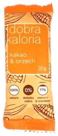 Kubara, Dobra Kaloria kakao i orzech, wegański surowy baton z daktylami, słodycze bez glutenu, copyright Olga Kublik