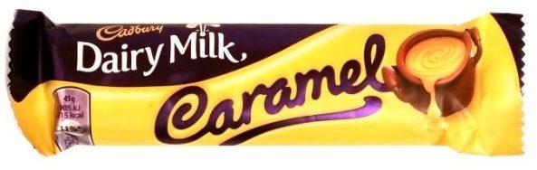Cadbury, Dairy Milk Caramel, brytyjski baton z karmelem w mlecznej czekoladzie, zagraniczne słodycze, copyright Olga Kublik