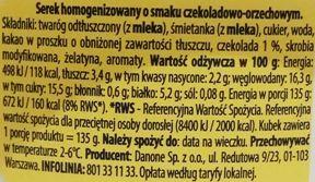 Danone, Danio smak czekoladowo-orzechowy, serek homogenizowany czekolada i orzechy laskowe, skład i wartości odżywcze, copyright Olga Kublik