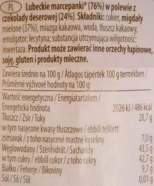 Das Exquisite, Lubecker Herzen, marcepan w czekoladzie z Rossmanna, Niederegger, skład i wartości odżywcze, copyright Olga Kublik