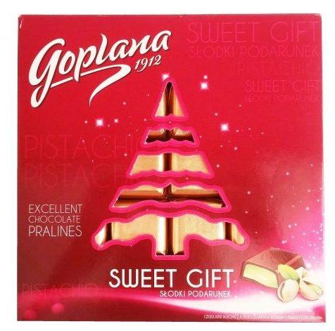 Goplana, Sweet Gift czekoladki mleczne z alkoholizowanym kremem o smaku pistacjowym, copyright Olga Kublik