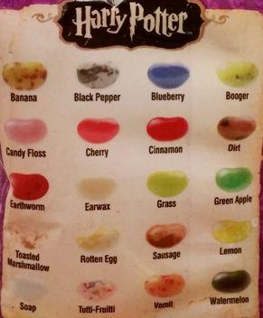 Harry Potter Bertie Bott's Every Flavour Beans Fasolki wszystkich smaków, copyright Olga Kublik