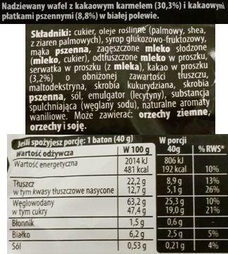 Nestle, Lion Black White, limitowany baton kakaowy z karmelem w białej polewie, skład i wartości odżywcze, copyright Olga Kublik