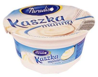 OSM Czarnków, Paradiso Kaszka manna o smaku śmietankowym, mleczny deser z Netto, copyright Olga Kublik