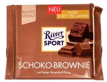 Ritter Sport, Schoko-Brownie, mleczna czekolada z kremem o smaku brownie, copyright Olga Kublik