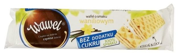 Wawel, Wafel gofrowy o smaku waniliowym bez dodatku cukru, słodycze light, copyright Olga Kublik