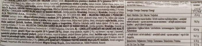 Kandit, Kandi Honey Crunch, mleczna czekolada z ziarnami zbóż i miodem, skład i wartości odżywcze, copyright Olga Kublik