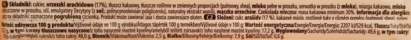 Millano-Baron, Ryelands Chocolates Peanut Butter Filled milk chocolate z Tesco, mleczna czekolada z nadzieniem - kremem o smaku masła orzechowego, skład i wartości odżywcze, copyright Olga Kublik