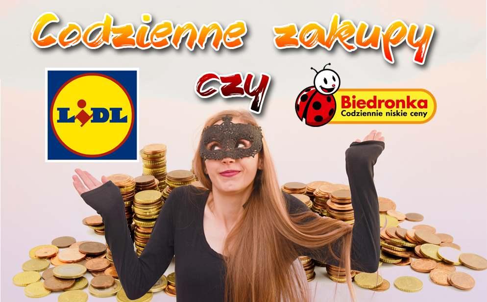 Porównanie cen zakupów Biedronka vs Lidl - gdzie taniej?