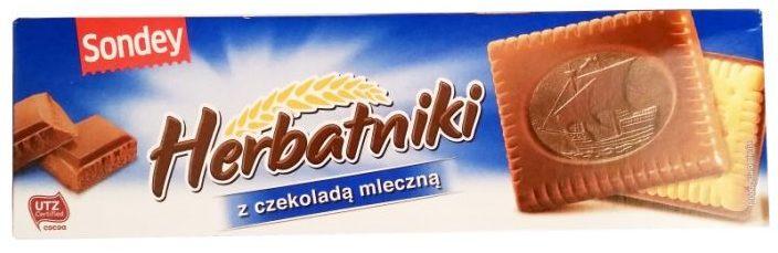 Sondey, Herbatniki z czekolada mleczna, kruche ciastka z Lidla, copyright Olga Kublik