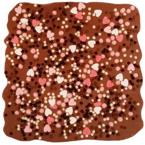 Balduno Manufaktura, Czekoladowe Love, mleczna czekolada z dodatkami serduszkami i chrupkami zbożowymi, copyright Olga Kublik