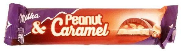 Milka, baton Peanut and Caramel, baton z kremem orzechowym, karmelem i fistaszkami w mlecznej czekoladzie, copyright Olga Kublik