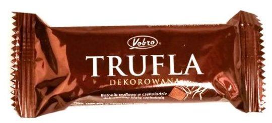 Vobro, Trufla dekorowana białą czekoladą, copyright Olga Kublik