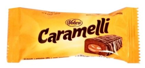 Vobro, baton Caramelli, baton czekoladowy z karmelem w polewie kakaowej, copyright Olga Kublik