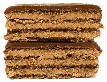 I.D.C. Polonia, Lusette Nugatowe, wafle oblane polewą kakaową i przełożone kremem o smaku nugatu, copyright Olga Kublik
