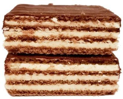I.D.C. Polonia, Lusette smak Mleczny, wafle przełożone kremem mlecznym i oblane kakaową polewą, copyright Olga Kublik