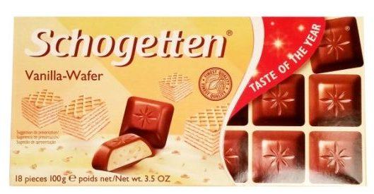 Ludwig Schokolade, Schogetten Vanilla-Wafer, czekolada mleczna z kremem waniliowym i wafelkami, copyright Olga Kublik