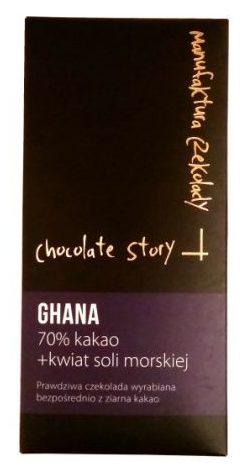 Manufaktura Czekolady, Chocolate Story Ghana 70% kakao kwiat soli morskiej, copyright Olga Kublik