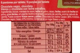 Nestle, Corazon de Tres Chocolates, czekolada mleczna, biała i ciemna - połączenie czekolad, skład i wartości odżywcze, copyright Olga Kublik