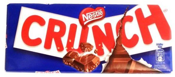 Nestle, Crunch, chrupiąca mleczna czekolada z chrupkami ryżowymi, copyright Olga Kublik