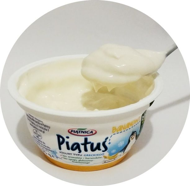 Piątnica, Piątuś bananowy, jogurt grecki dla dzieci po zmianie składu, copyright Olga Kublik