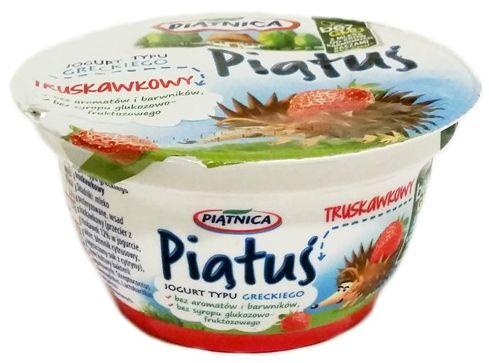 Piątnica, Piątuś truskawkowy, jogurt grecki dla dzieci po zmianie składu, copyright Olga Kublik